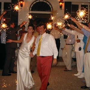 wedding sparkler tunnel exit